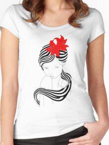 Flower Power 2 Women's Fitted Scoop T-Shirt
