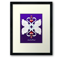 LOVE ON A POND Framed Print