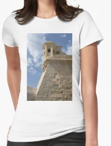 Maltese Knights Legacy - Fort St Elmo Bastion Watch Tower Womens Fitted T-Shirt