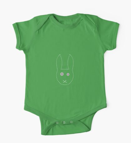 Handstitched pinkeyed bunny  One Piece - Short Sleeve
