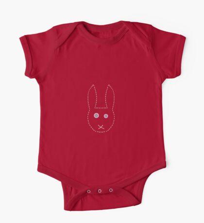 Handstitched pinkeyed bunny  One Piece - Short Sleeve