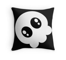 Chibi Skull - Black Throw Pillow