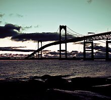January Sunrise in Newport RI  by Papandrea Photography