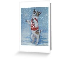 Jack Russell Terrier Fine Art Painting Greeting Card