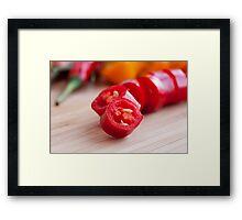 Sliced Hot Pepper Framed Print