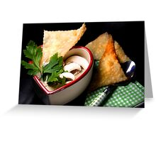 Love 4 Champignon Soup With Strudel Chips Greeting Card