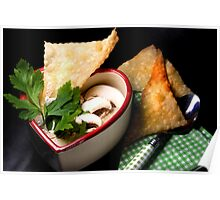 Love 4 Champignon Soup With Strudel Chips Poster