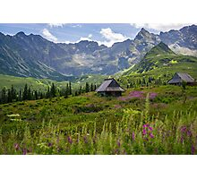 Sunny Day In The Tatra Mountains Photographic Print