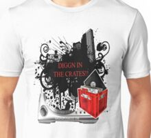 """""""THE DJ GRIND-DIGGN IN THE CRATES""""  Unisex T-Shirt"""