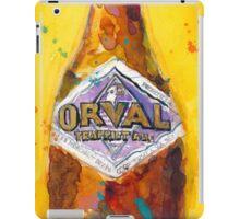 Orval Trappist Ale Beer Watercolor - Belgium Beer Art Print  iPad Case/Skin