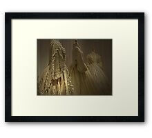 THE WEDDING DRESSES Framed Print