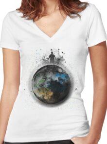 Celestial Baron Women's Fitted V-Neck T-Shirt