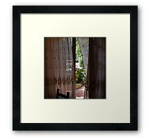 Window in Tuscany Framed Print