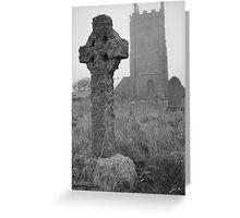 Misty church yard Greeting Card