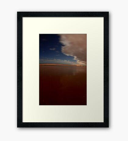 Serene Moon Lit Shore Framed Print