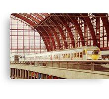 Train station Antwerpen Canvas Print