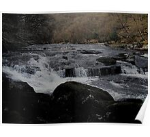 Dartmoor River Dart Vally Rowbrook In March Poster
