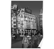 Street Scene, Valencia Poster