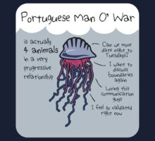 Portuguese Man O' War Is Actually 4 Animals In A Very Progressive Relationship Kids Tee