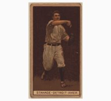 Benjamin K Edwards Collection Oscar Stanage Detroit Tigers baseball card portrait 002 One Piece - Short Sleeve