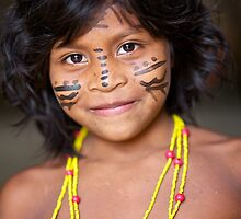 Indigenous Amazon Child by Reuben Reynoso