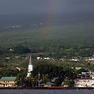 Rainbow over Kona by Soulmaytz