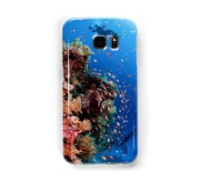 Scuba Divers pass by a coral reef photographed at Ras Mohammed  Samsung Galaxy Case/Skin