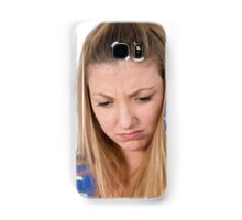 emotional Young teen girl  Samsung Galaxy Case/Skin
