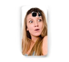 Surprised Young teen girl  Samsung Galaxy Case/Skin