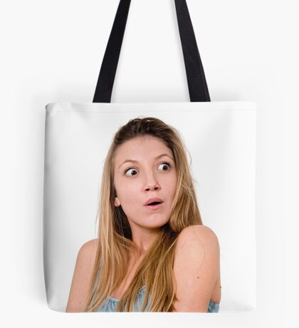 Surprised Young teen girl  Tote Bag