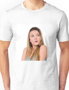 Surprised Young teen girl  Unisex T-Shirt