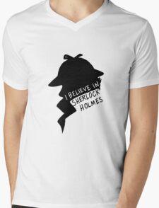 Believe in Sherlock Profile Mens V-Neck T-Shirt