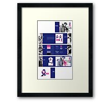 Support HER Identity Graphics Standards Manual Framed Print
