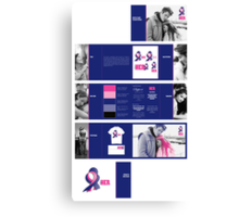Support HER Identity Graphics Standards Manual Canvas Print