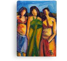 Three Women in Brazil Canvas Print