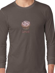 cupcake love - pink Long Sleeve T-Shirt