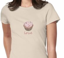 cupcake love - pink Womens Fitted T-Shirt