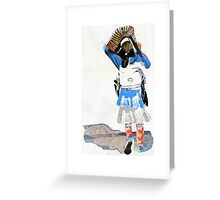 Girl with Accordian Sunshade Greeting Card