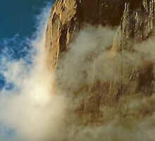 EL CAPITAN AND CLOUDS by Chuck Wickham