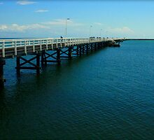 Busselton Jetty.  Walk to the end of the jetty for an amazing experience. by myraj