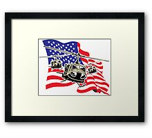 American Flag Helicopters Framed Print