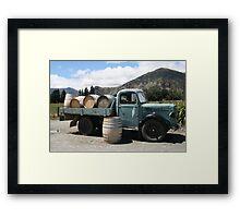 Winery Truck Framed Print