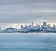 San Francisco Bay Morning Panorama  by Gregory Ballos | gregoryballosphoto.com