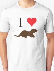 I Love Otters Unisex T-Shirt