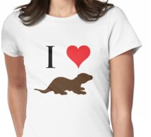 I Love Otters Womens Fitted T-Shirt