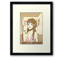 Circle Lens in the Mirror Framed Print