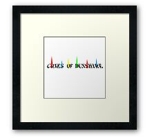 The Cones of Dunshire - Parks and Recreation Framed Print