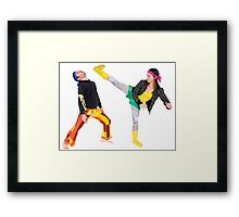 humorous Street fighting Framed Print