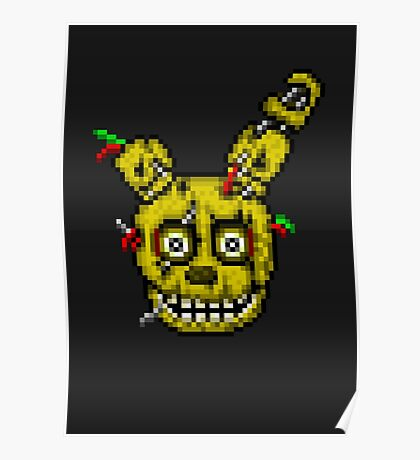 Five Nights at Freddy's 3 - Pixel art - SpringTrap Poster