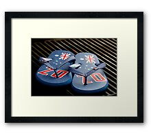 Aussie Tradition - Thongs and a Barbie  Framed Print